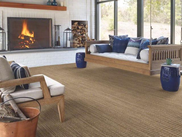 Natural boucle 15 Carpet Wicker