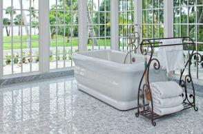 Tile & Stone: Granite Tile Bathroom Floor