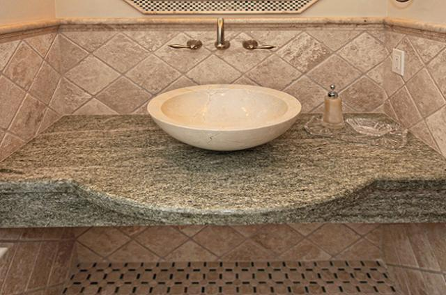 Tile & Stone: Granite Powder Room Top