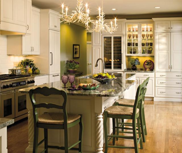 Off White Kitchen Mullion Cabinet Doors