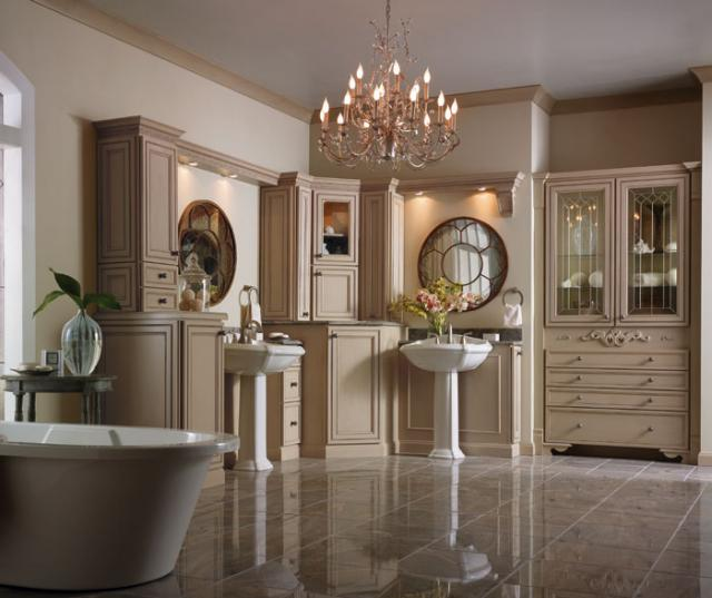 Painted Bathroom Cabinets Irish Creme