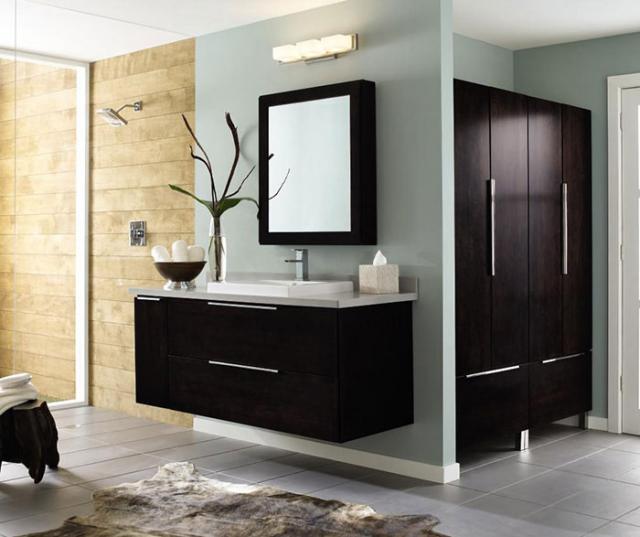 Wall Mounted Bathroom Vanity Dark Cherry