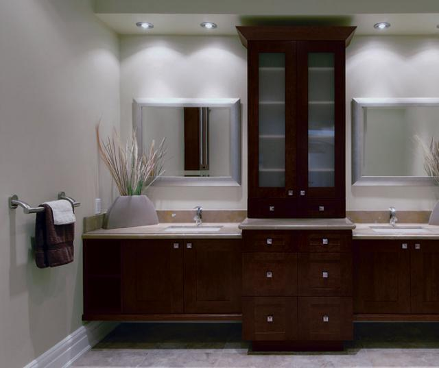 Contemporary Bathroom Vanities with Storage Cabinets