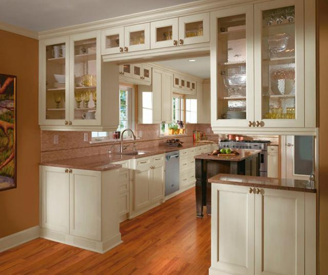 Off White Cabinets in Casual Kitchen