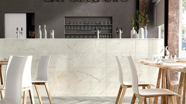 Classic 2.0 12 x 24 Floor & Wall Tile in Bianco Carrara