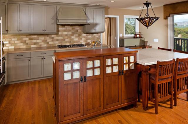 Counter tops and cabinets