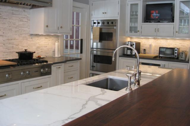 Marble Wood Hybrid Countertop
