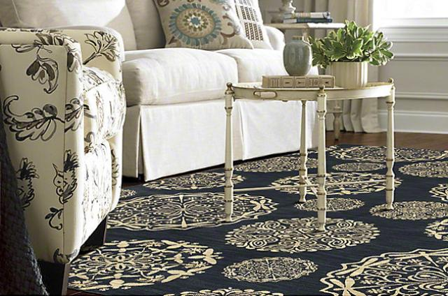 Shaw Area Rug: Queen Anne's Lace